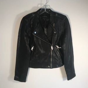 Lucky Brand Lamb Leather Moto Jacket Women S, New